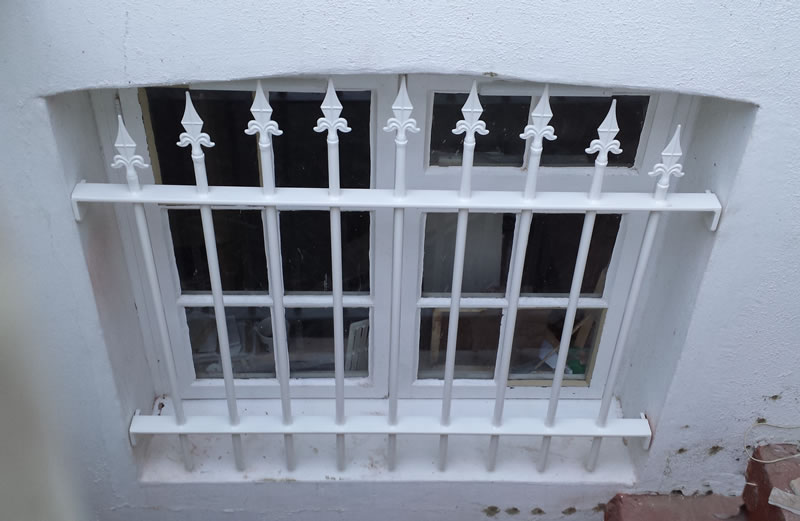 Security Grille with Finials
